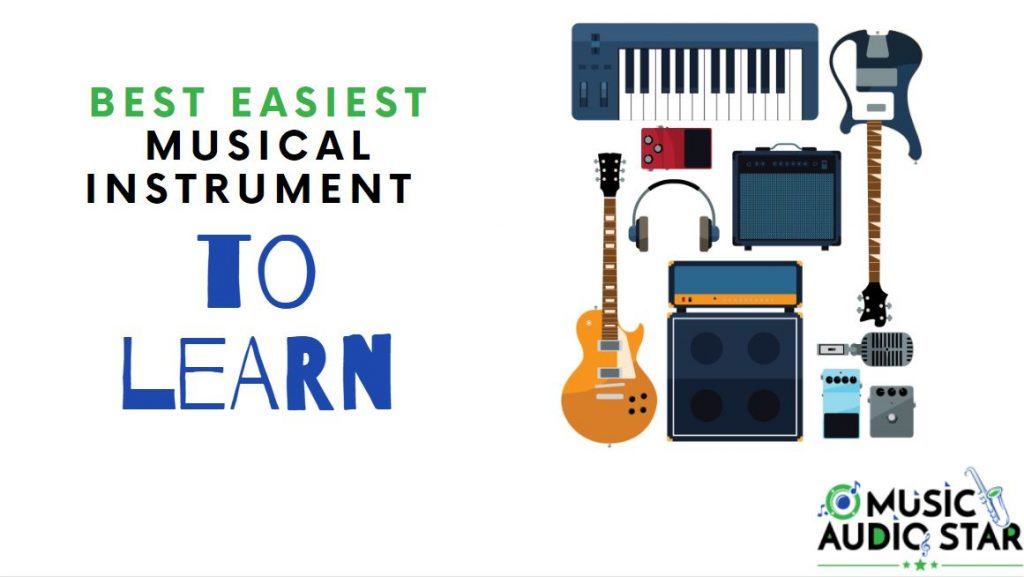 this image shows multiple easy instruments to learn