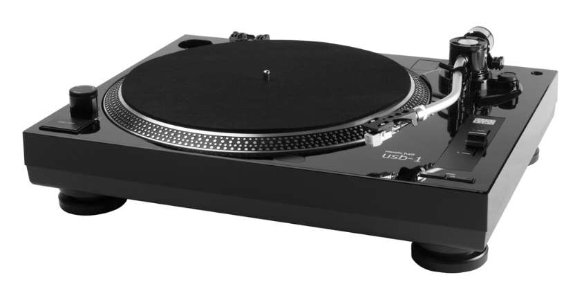 this picture shows an affordable usb record player