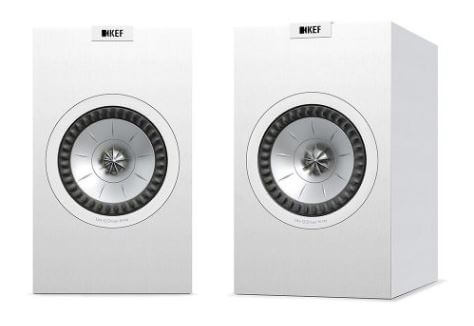 image of the KEF Q150 white speakers