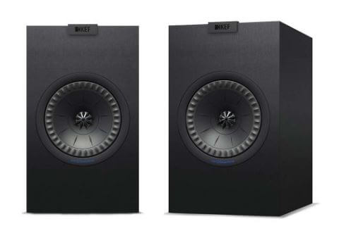 image of the front of the kef q150 bookshelf speakers