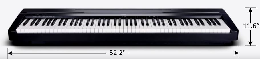 image of the Yamaha P-45 size