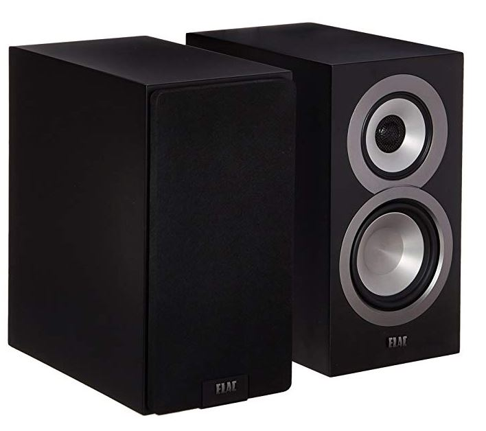 this image shows a pair of Elac-Uni UB5 passive bookshelf speakers