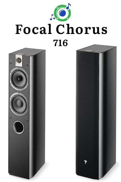 this picture shows the outside of the focal chorus 716 tower speaker