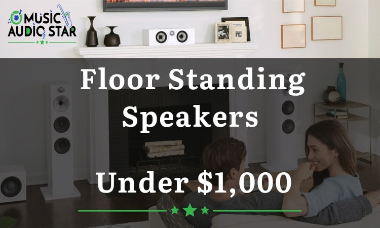 this is our featured image for our new article on under $1,000 floorstanding tower speakers