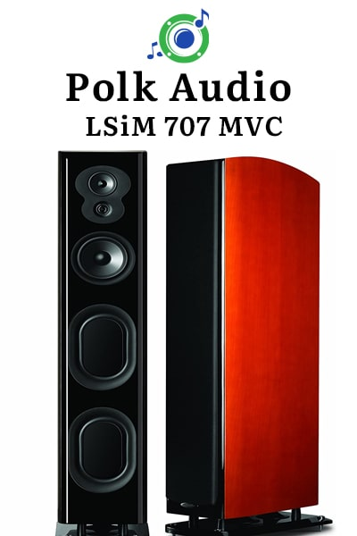 this picture shows the outside of the Polk Audio LSiM 707 MVC tower speaker